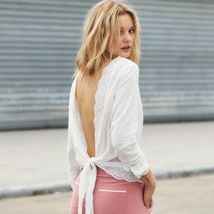 Sezane Tracy blouse 100% cotton in Ecru size 36